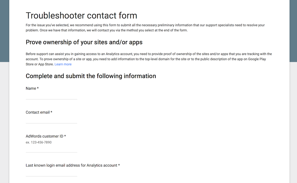 Google-Analytics-troubleshoot-contact-form